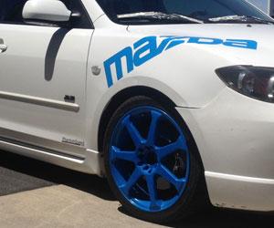 Custom Powder Coated Auto Wheels Full Blown Coatings