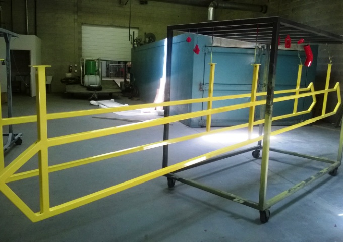 Powder coating for safety