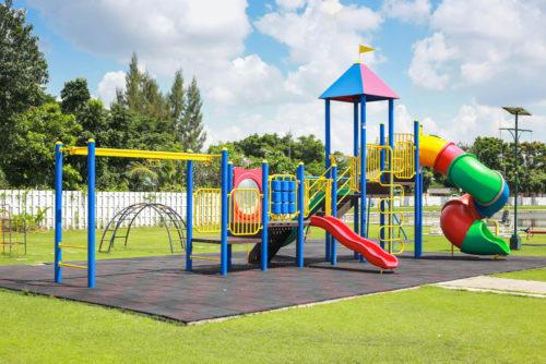 Bright colorful park playground