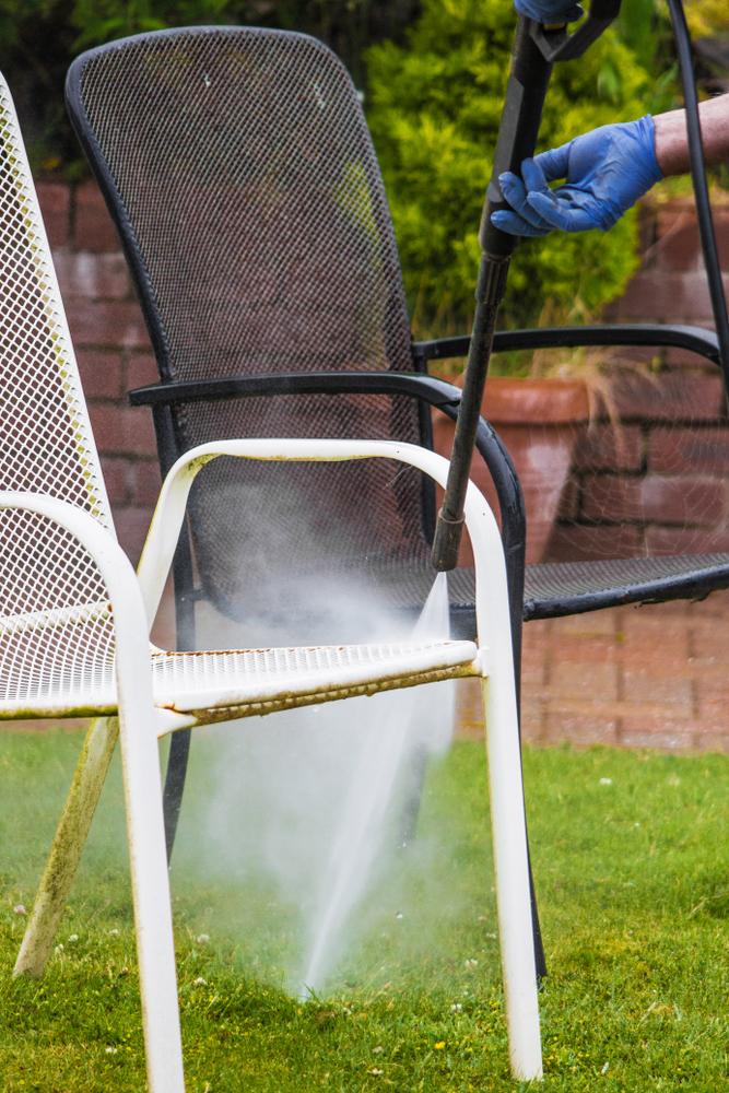 pressure washing metal